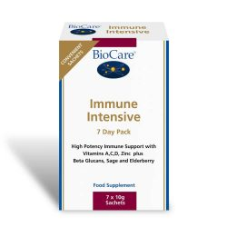 Biocare Immune Intensive Sachets (High potency immune support with Vitamins A, C, D, Zinc plus Beta Glucans, Sage & Elderberry)