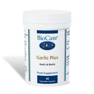 Biocare Garlic Plus 90 Capsules (Garlic & Biotin)