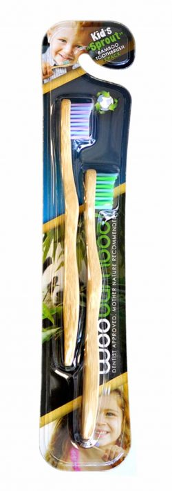 WooBamboo Natural Vegan Toothbrush for Kids