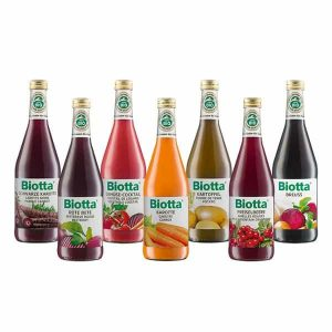 Bioforce Super Foods Biotta Range of Juices 500ml (Beetroot Juice, Breuss Juice, Carrot Juice, Mixed Vegetable Cocktail Juice, Mountain Cranberry Juice, Potato Juice, Purple Carrot Juice, Apple Beet & Ginger Juice, Prune Juice, Pomegranate Juice)