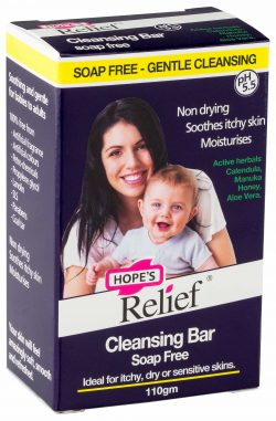 Hope's Relief Natural Organic Soap Free Cleansing Bar (ideal for Eczema or Itchy Skin)