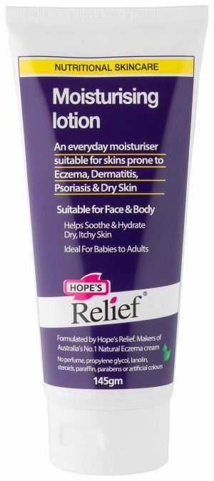 Hope's Relief Dry Skin Natural Organic Moisturising Lotion (ideal for Eczema or Itchy Skin)